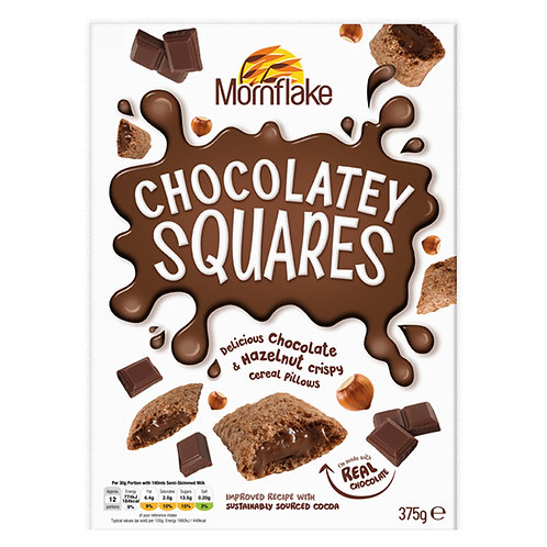 Mornflake Chocolate Squares Breakfast Cereal 375g