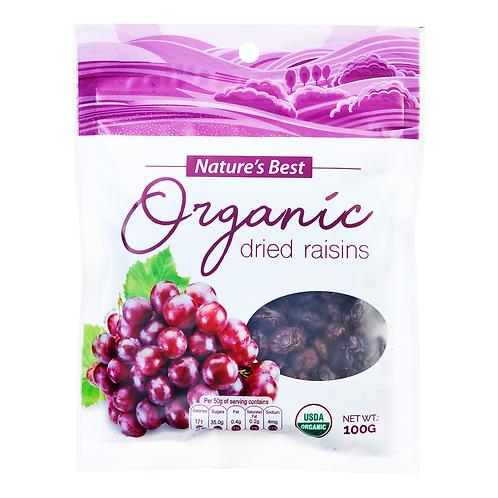 Nature's Best Organic Dried Fruits - Raisins 100g