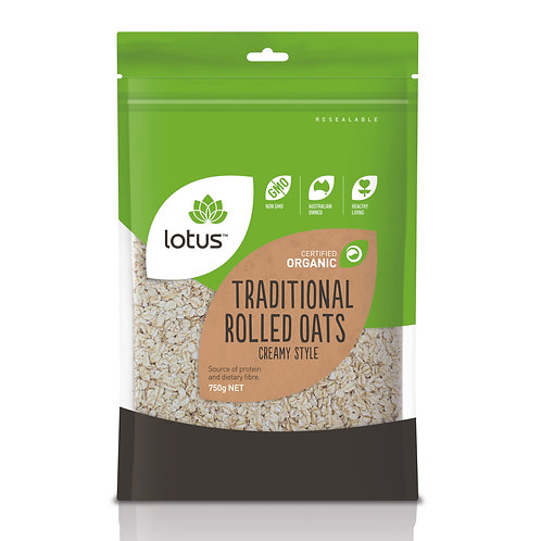 Lotus Organic Creamy Style Rolled Oats 750g