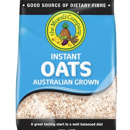 The Muesli Company Instant Oats Cereal - Low Sugar 500g