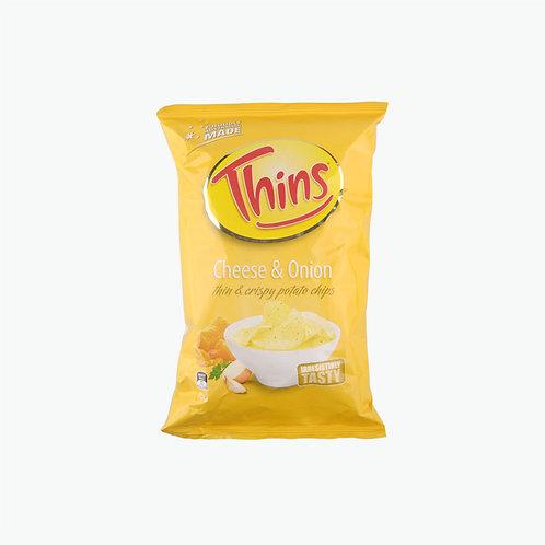 Thins Potato Chips - Cheese & Onion 45g