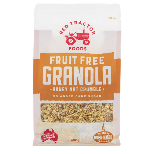Red Tractor Foods Granola - Honey Nut Crumble (Fruit Free) 400g
