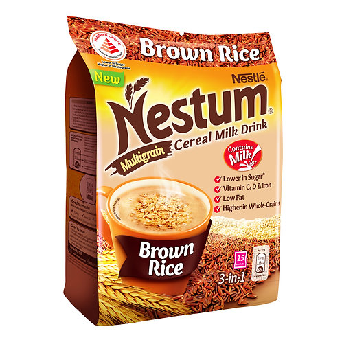 Nestle Nestum 3 in 1 Instant Cereal Milk Drink - Brown Rice