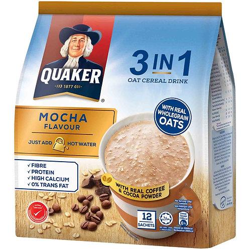 Quaker 3 in 1 Oat Cereal Drink - Mocha 12 x 28g