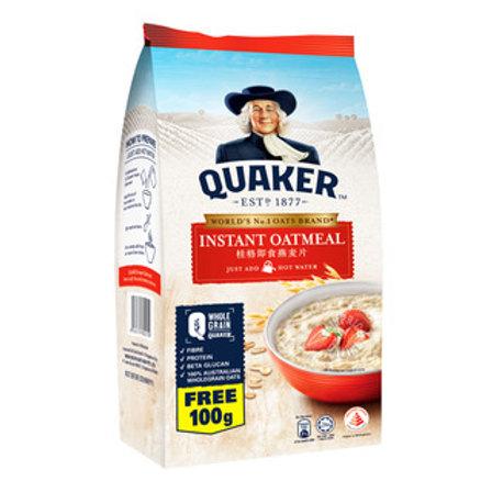 Quaker 100% Wholegrain Oatmeal Refill - Instant 800g + free 100g