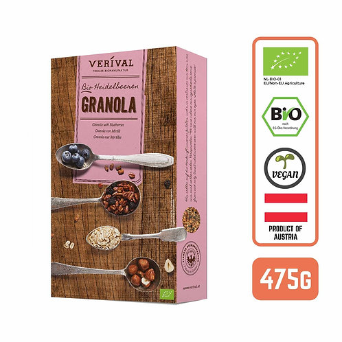 Verival Organic Austrian Granola with Blueberries - by Foodsterr 475g