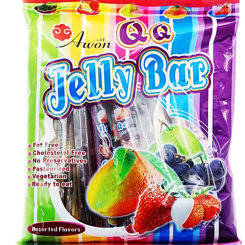 Awon QQ Jelly Bars - Assorted 400g