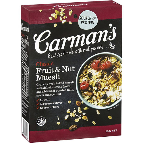Carman's Muesli - Classic (Fruit & Nut) 500g