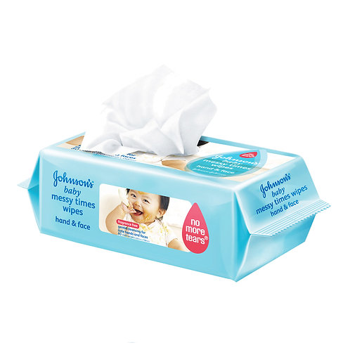 Johnson's Baby Wipes - Messy Times (Hand & Face)