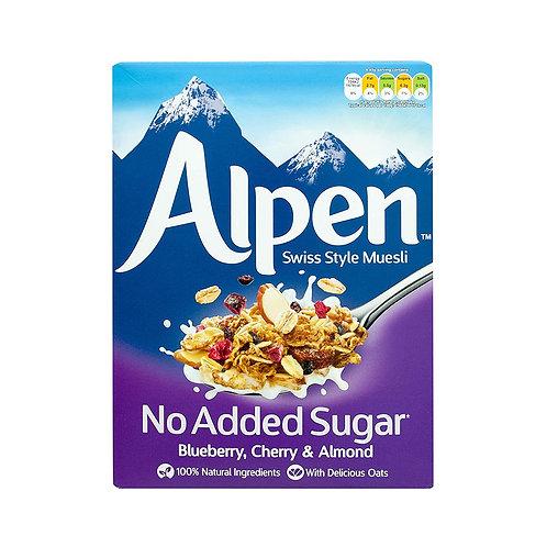 Alpen No Added Sugar Muesli - Blueberry, Cherry & Almond 560g
