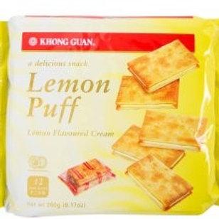 Khong Guan Sandwich Biscuits - Lemon Puff800g