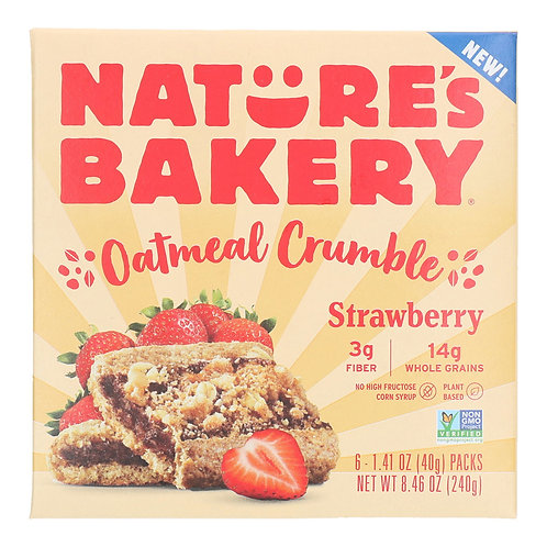 Nature's Bakery Oatmeal Crumble Bars Strawberry