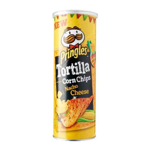 Pringles Tortilla Corn Chips - Nacho Cheese 110g