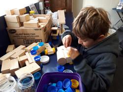 making toy trucks