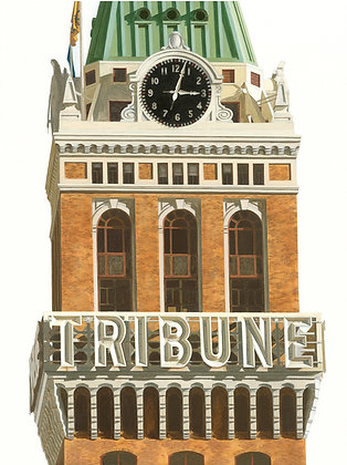 Tribune Tower - 18x24 Canvas Print