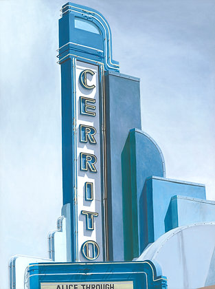 Cerrito Theater - 18x24 Canvas Print