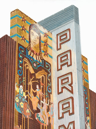 Paramount Theatre - 18x24 Canvas Print