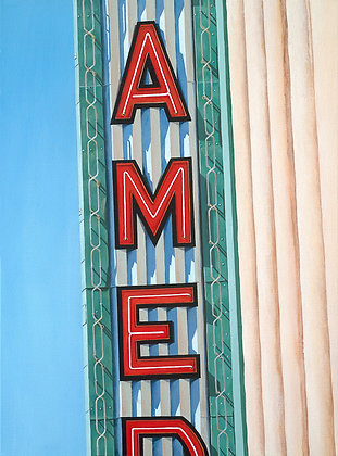 Alameda Theatre - 18x24 Canvas Print