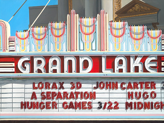 Grand Lake Theater - 18x24 Canvas Print