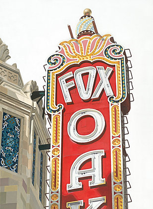 Fox Theater - 18x24 Canvas Print