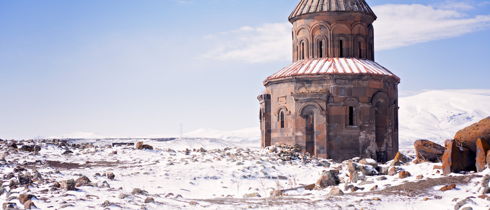 Ruined City Of Ani In The Winter