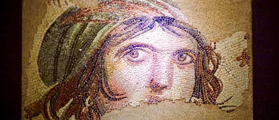 Gypsy Girl Mosaic in Zeugma Museum in Gaziantep City