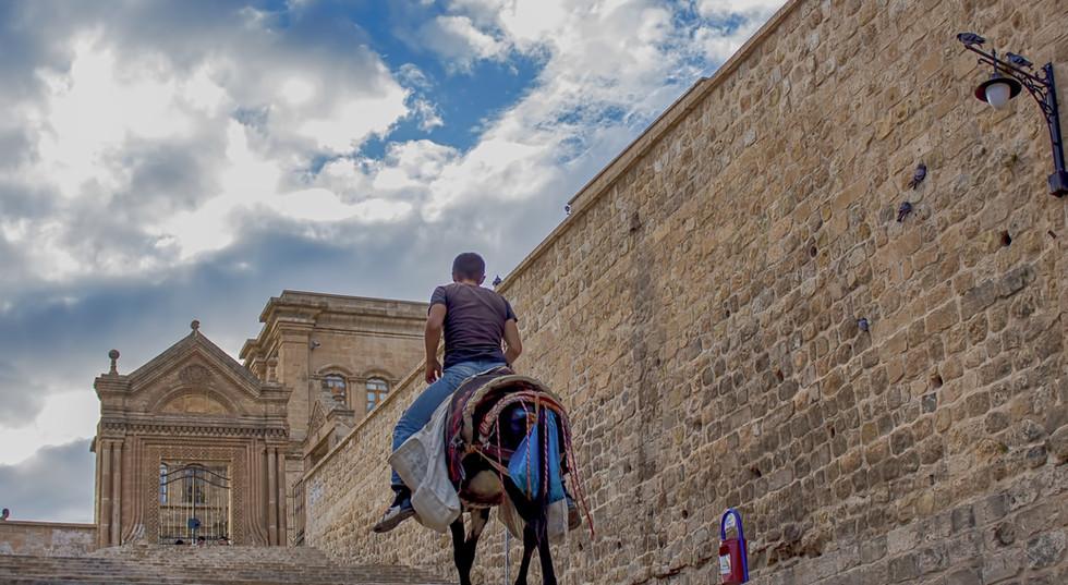 Man On Horse In Mardin City