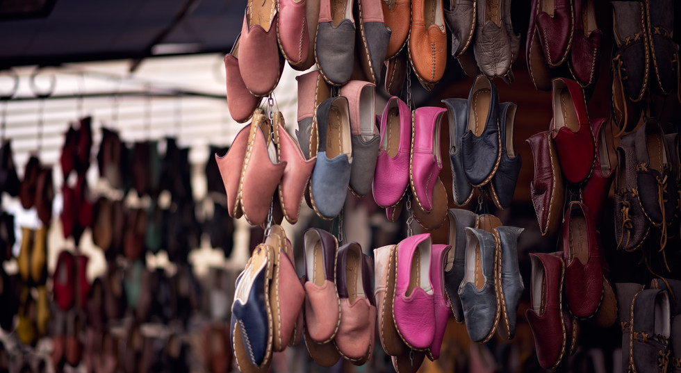 Shoes For Sale In Gaziantep City Market in Turkey | SilkRoad Moments