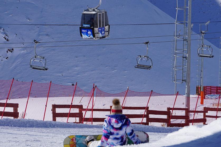 Ski Lifts On Palandoken Mountain