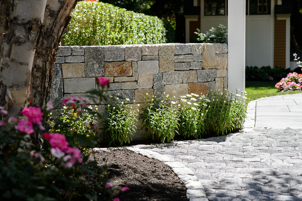 Indresano Corporation Stone Wall and Garden
