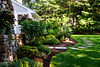 Indresano Corporation landscaping design, construction, maintenance – Medfield Stately Exterior backyard oasis