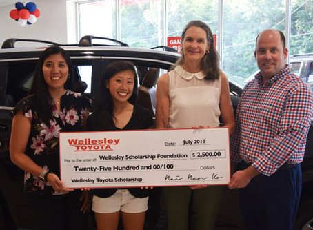 Wellesley Toyota Awards Scholarship To WHS 2019 Graduate Rachel Ip