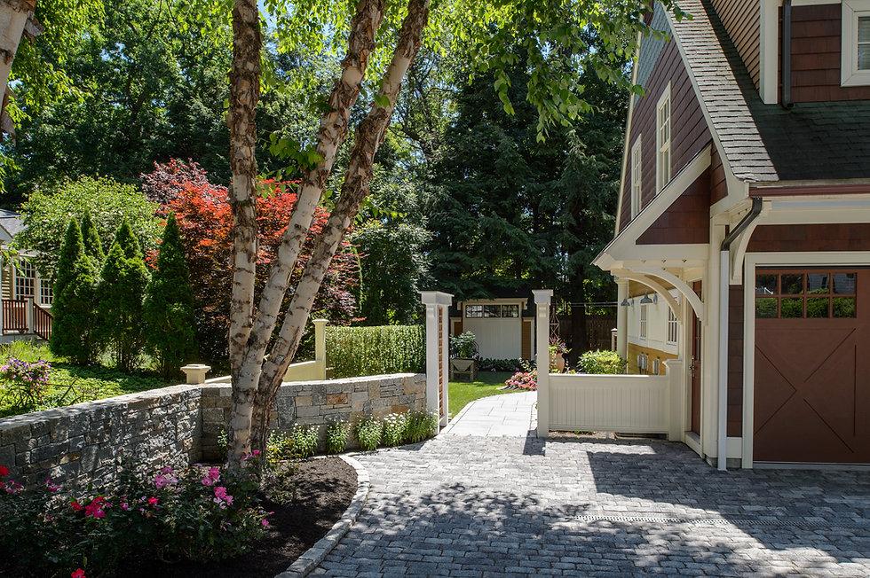 Indresano Corporation landscaping design, construction and maintenance – Elegant Wellesey Residence stonework throughout