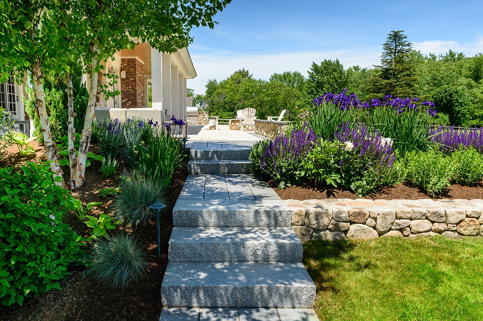 Indresano Corporation landscaping design, construction and maintenance – Front porch curb appeal, hardscape and softscape