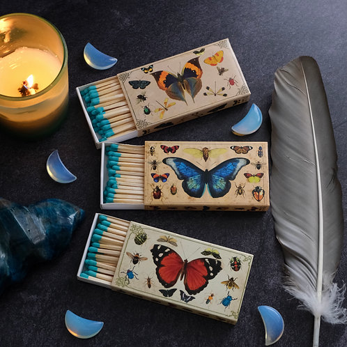 Vintage Style Butterflies/Insects Matchbox