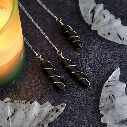 Shungite Crystal Point Necklace