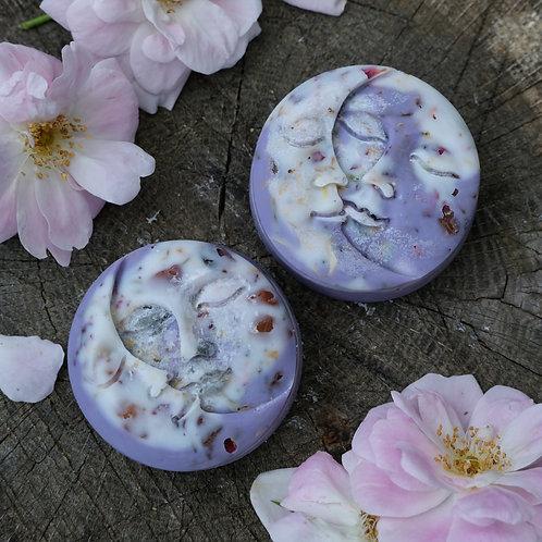 White Sage, Lavender + Rosemary Wax Melts (Purp + White Swirl) - Botanical