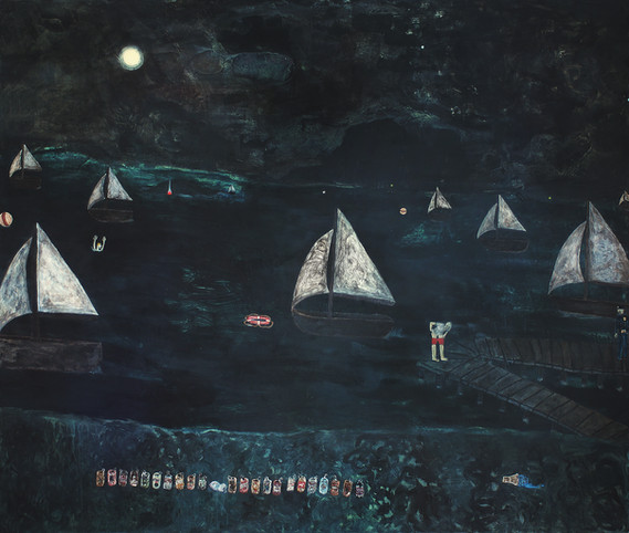 mythology painting 2 (under the blue moon)