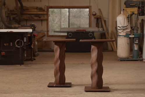 Tiberius helical side table