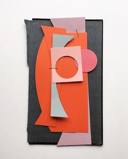 Colourful day 2, framed 42x52cm