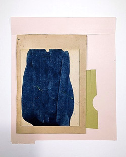 Indigo, framed 29x36cm