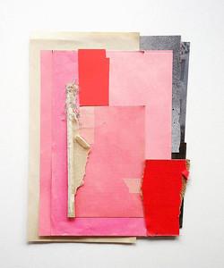 Untitled pink, framed 42x52cm