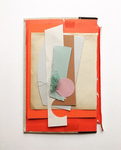 Colourful day 6, framed 42x52cm