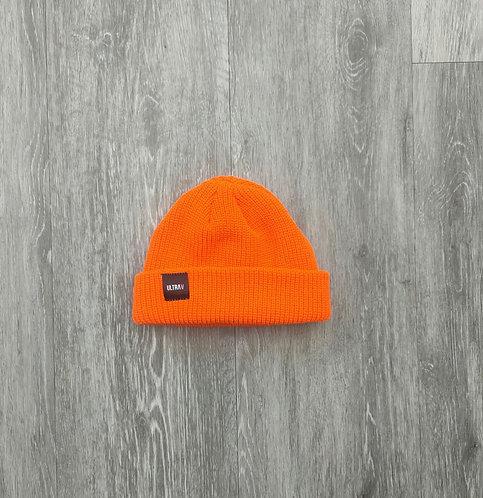 Mini Fisherman beanie - Fluro orange