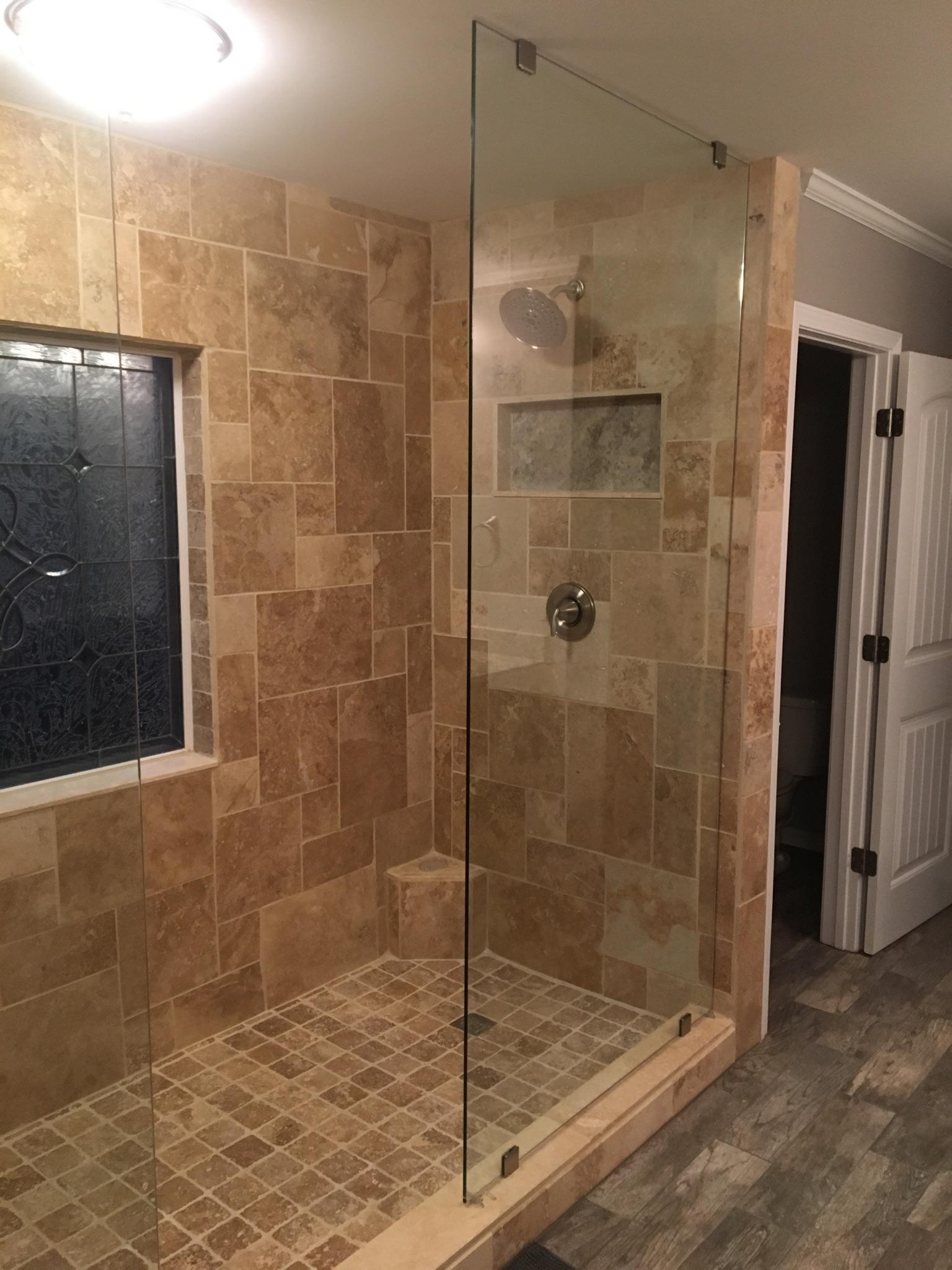 custom 7' 2 sided shower