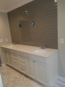 New Bath Vanity With Glass Wall