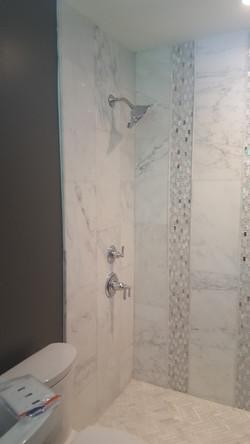 new custom shower