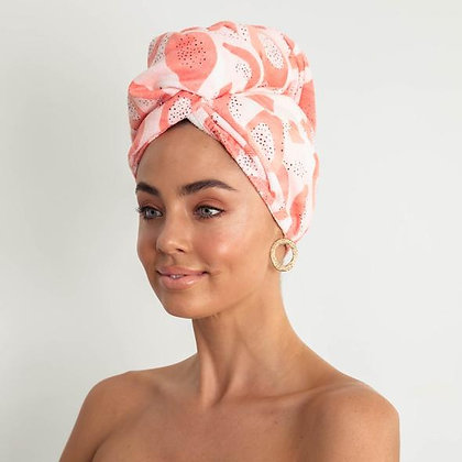 LOUVELLE - Riva Hair Towel Wrap in Peach Papaya