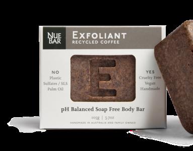 NueBar - Solid recycled coffee body exfoliation bar