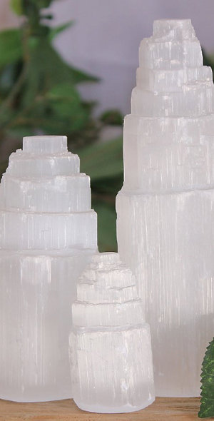Selenite Tower Lamp